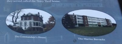 The Commandant's Home and The Marine Barracks image. Click for full size.