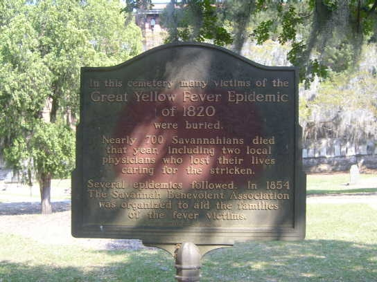 Great Yellow Fever Epidemic of 1820 Marker