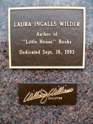 Laura Ingalls Wilder Marker image. Click for full size.