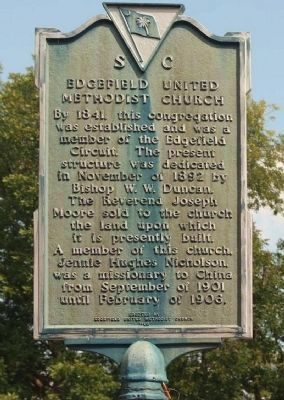 Edgefield United Methodist Church Marker image. Click for full size.