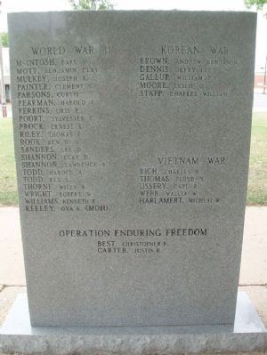 War Memorial (Back) image. Click for full size.