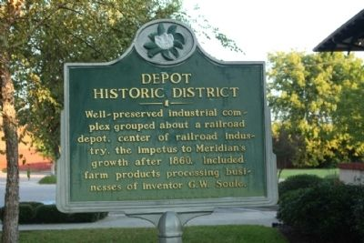 Depot Historic District Marker image. Click for full size.