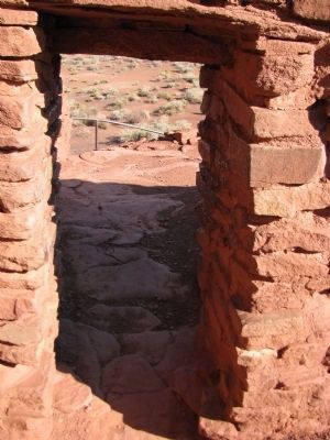 Wukoki Pueblo Doorway image. Click for full size.