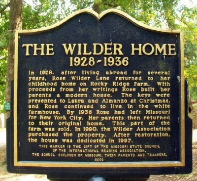 The Wilder Home Marker (Side A) image. Click for full size.