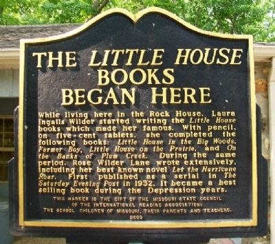 The <i>Little Books</i> Began Here Marker (Side B) image. Click for full size.