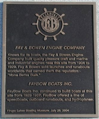 Fay & Bowen Engine Company Marker image. Click for full size.