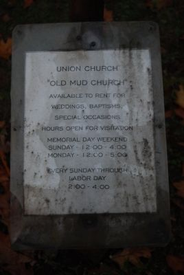 Union Church Information sign image. Click for full size.
