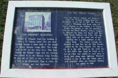 The Dempsey Building Marker image. Click for full size.