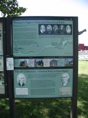 Women's Rights National Historic Park - M'Clintock House Marker image. Click for full size.