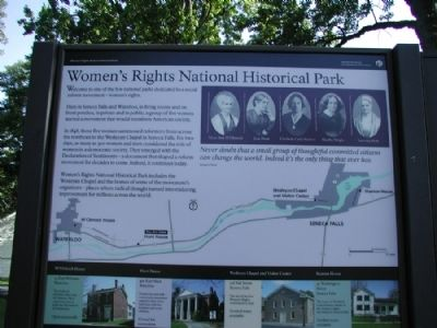 Women's Rights National Historic Park - Hunt House Marker image. Click for full size.