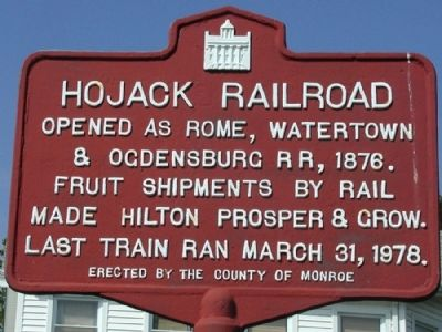 Hojack Railroad Marker image. Click for full size.