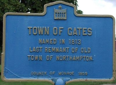 Town of Gates Marker image. Click for full size.