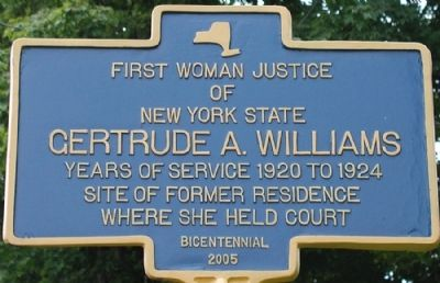 Gertrude A. Williams Marker image. Click for full size.
