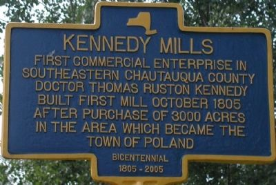 Kennedy Mills Marker image. Click for full size.