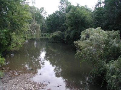 Conewango Creek east of marker image. Click for full size.