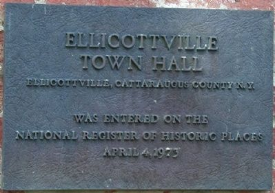 Ellicottville Town Hall Marker image. Click for full size.