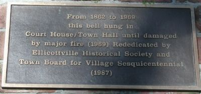 Ellicottville Town Hall Bell Plaque image. Click for full size.