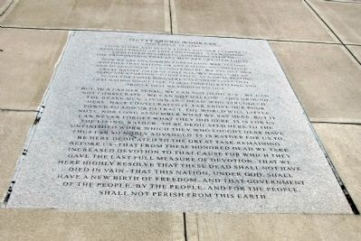 Gettysburg Address image. Click for full size.
