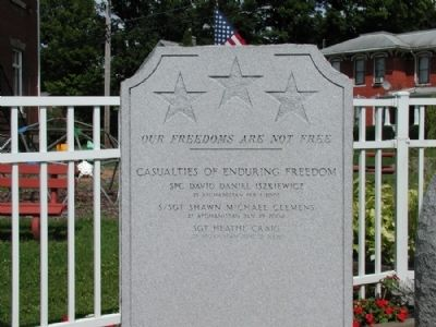 Allegany Veterans Memorial Marker - Detail image, Touch for more information