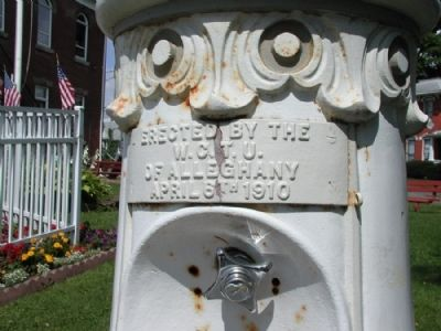 WCTU Fountain (Detail of Plaque) image. Click for full size.