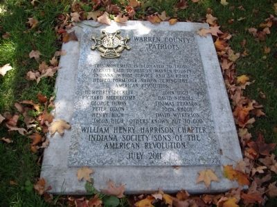 Warren County Patriots Marker image. Click for full size.