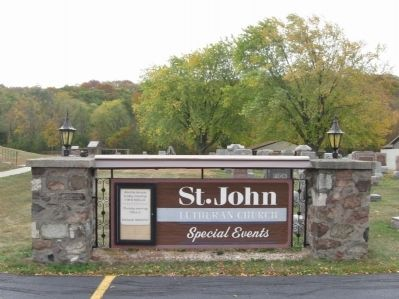 St. John Lutheran Church Sign image. Click for full size.
