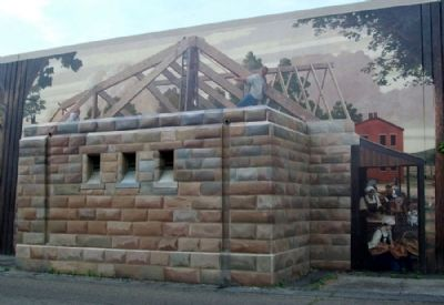 Flood Gate House Mural image. Click for full size.