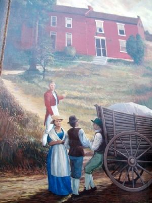 The 1810 House Mural Detail image. Click for full size.