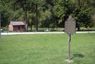 2012 Up-Date - - Looking West <br> Lincoln Knob Creek Farm Marker image. Click for full size.