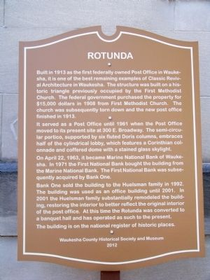 Rotunda Marker image. Click for full size.