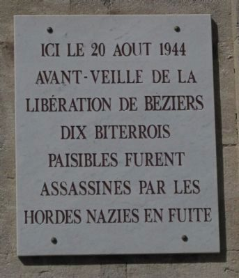 Beziers Citizens Murdered Marker image. Click for full size.