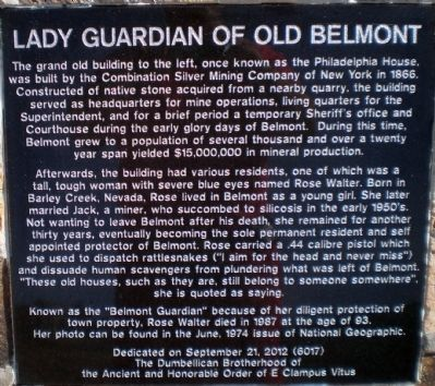 Lady Guardian of Old Belmont Marker image. Click for full size.