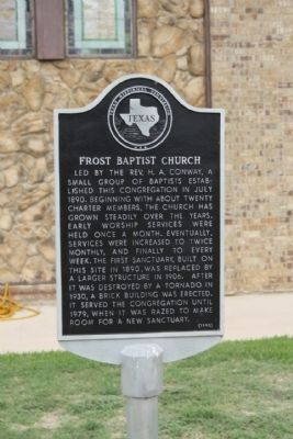 Frost Baptist Church Marker image. Click for full size.