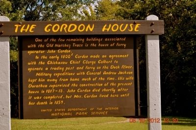 The Gordon House Marker image. Click for full size.