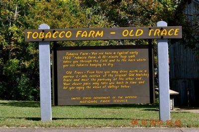 Tobacco Farm - Old Trace Marker image. Click for full size.