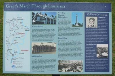Grant's March Through Louisiana Marker image. Click for full size.