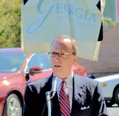 William Clayton Fain: Georgia Unionist Marker Dedication image. Click for full size.
