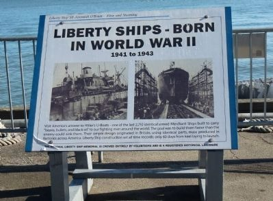 <i>Liberty Ship 'SS Jeremiah O'Brien' - Alive and Steaming</i> Marker image. Click for full size.