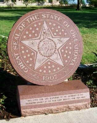 Oklahoma State Seal and Marker image. Click for full size.