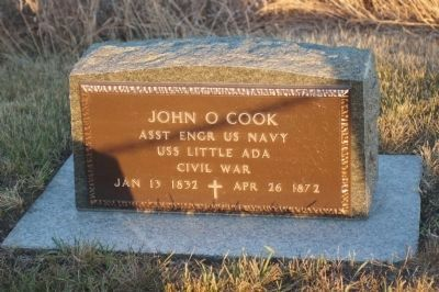 Cook Homestead Marker image. Click for full size.