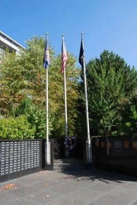 Korean War Veterans' Monument Flags image. Click for full size.