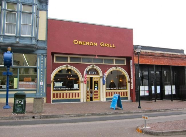 The Oberon Grill, started as the Oberon Saloon, and was many things in-between image. Click for full size.