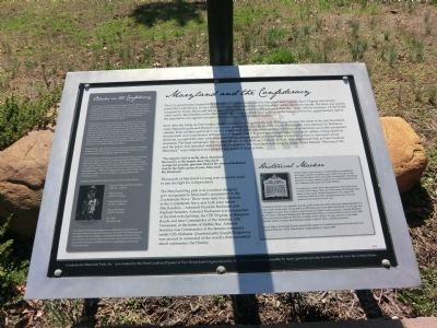 Maryland and the Confederacy Marker image. Click for full size.