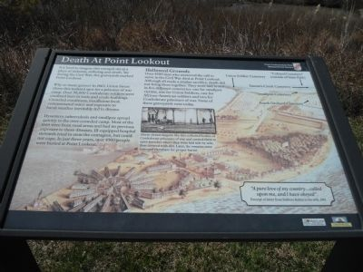Death at Point Lookout Marker image. Click for full size.