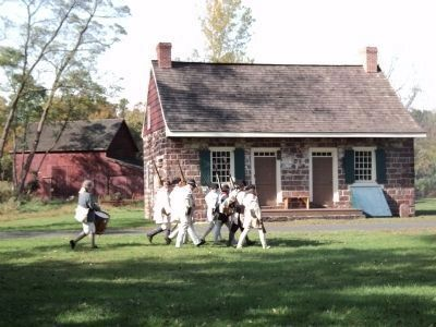 Reenactors at the Old Demarest House image. Click for full size.