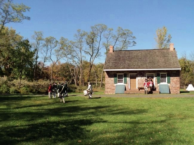 British Troops at the Old Demarest House image. Click for full size.