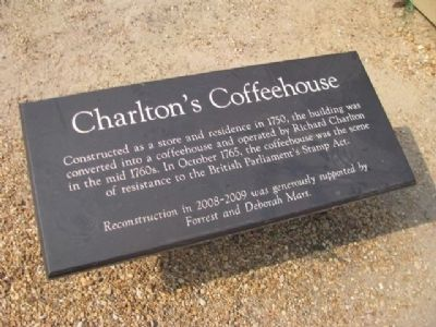 Charlton's Coffeehouse Marker image. Click for full size.