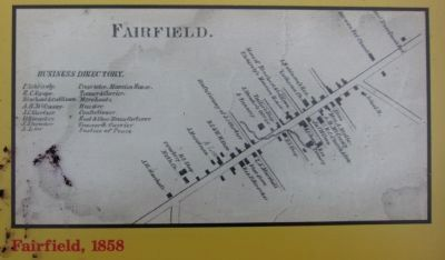 Map of Fairfield, 1858 image. Click for full size.