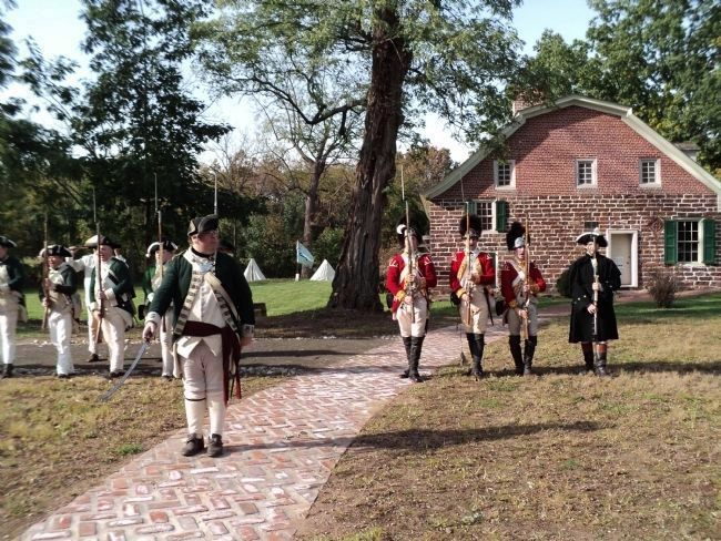 Reenactors at Historic New Bridge Landing image. Click for full size.