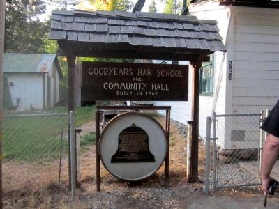 Goodyears Bar Schoolhouse Marker image. Click for full size.